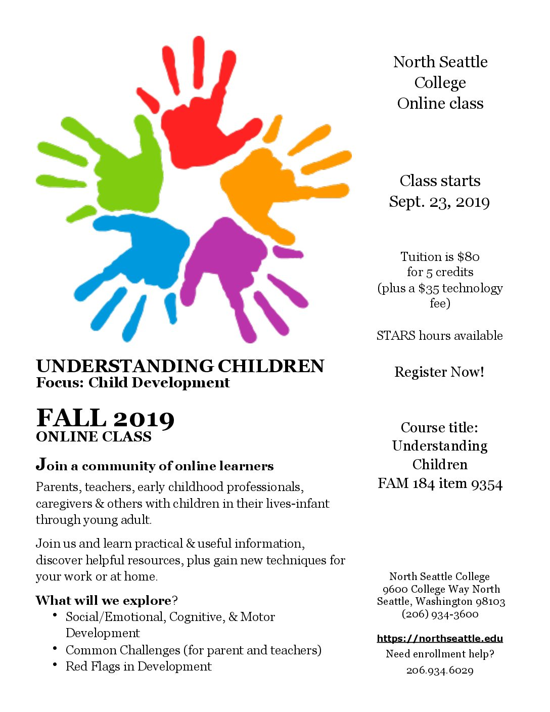 Fall 2019 Online Class: Register Now
